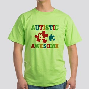Autistic Awesome Green T-Shirt